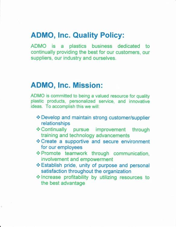 ADMO Mission Statement